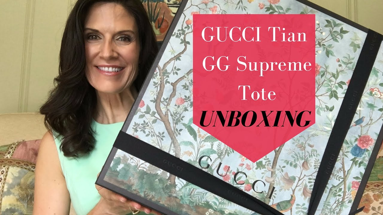d488d3d9e Gucci Tian Tote ✨Unboxing & Review✨ - YouTube