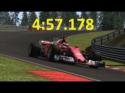 F1 2017 Ferrari SF70H Nordschleife World Record (not anymore) 4:57.178 + Setup Assetto Corsa