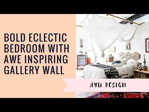 Bold Eclectic Bedroom With Awe Inspiring Gallery Wall