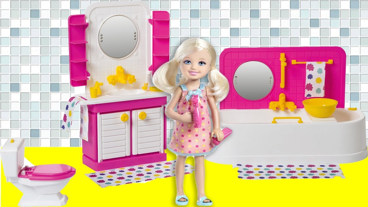 Barbie School Life! Morning routine doll house