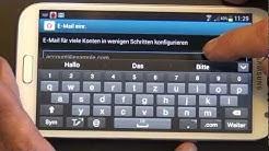 EMail-Konto einrichten auf einen Android-Smartphone