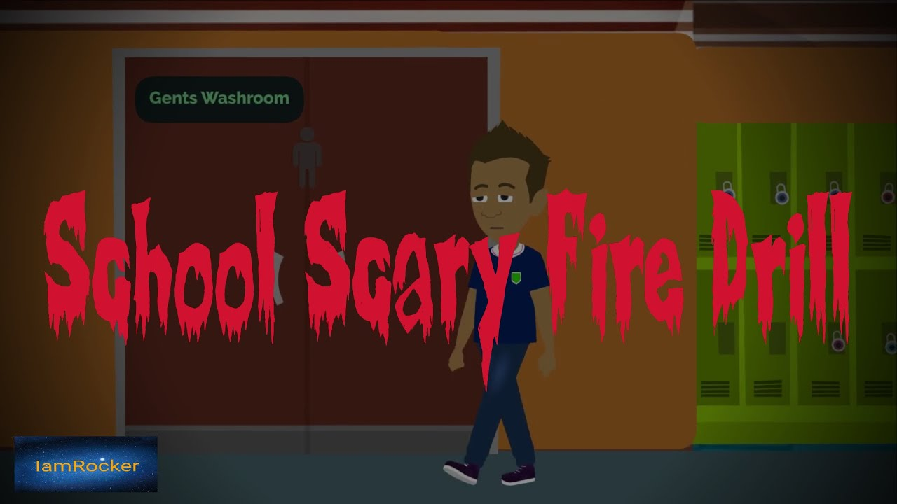 True School Fire Drill Scary Story Animated