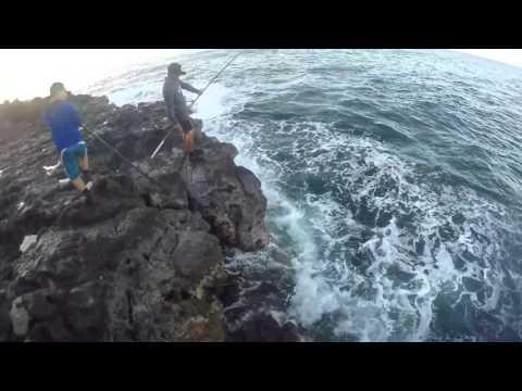 ulua fishing morning strike