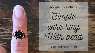 Simple Wire Ring with Bead | Quick Tutorial