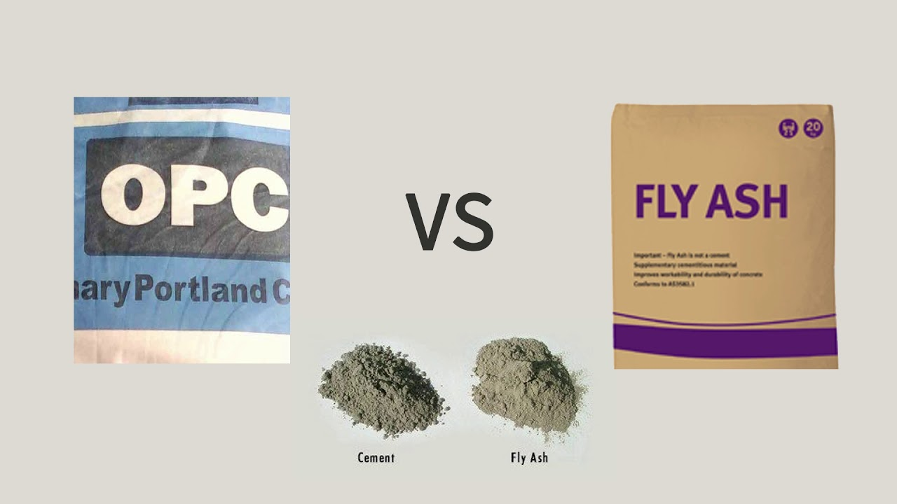 Fly Ash Concrete >> Ordinary Opc Cement Vs Fly Ash House Construction Youtube