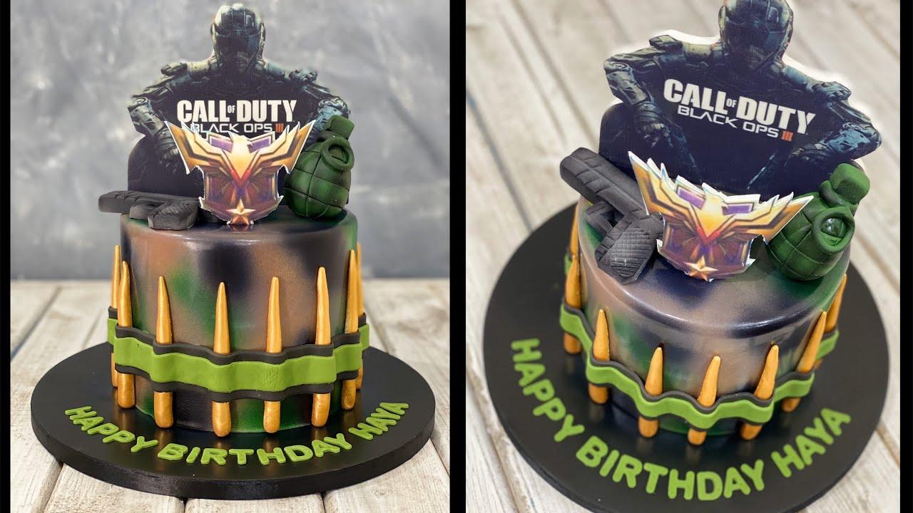 Call Of Duty Army Cake Youtube