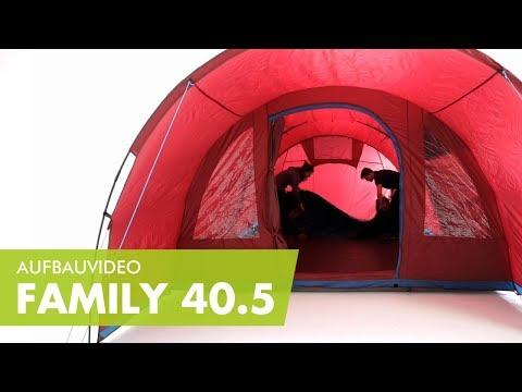 McKinley Familien Zelt Family 30.6 Familienzelt dunkelrot
