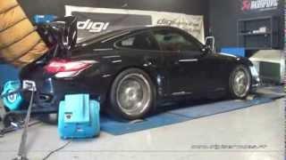 Reprogrammation Moteur Porsche 997 turbo 480cv STAGE 2 @ 585cv Digiservices Paris 77183 Dyno Chronos