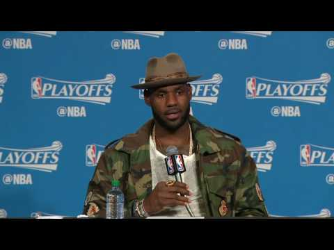 LeBron James on Reason for Shooting Right-handed l May 6th, 2017
