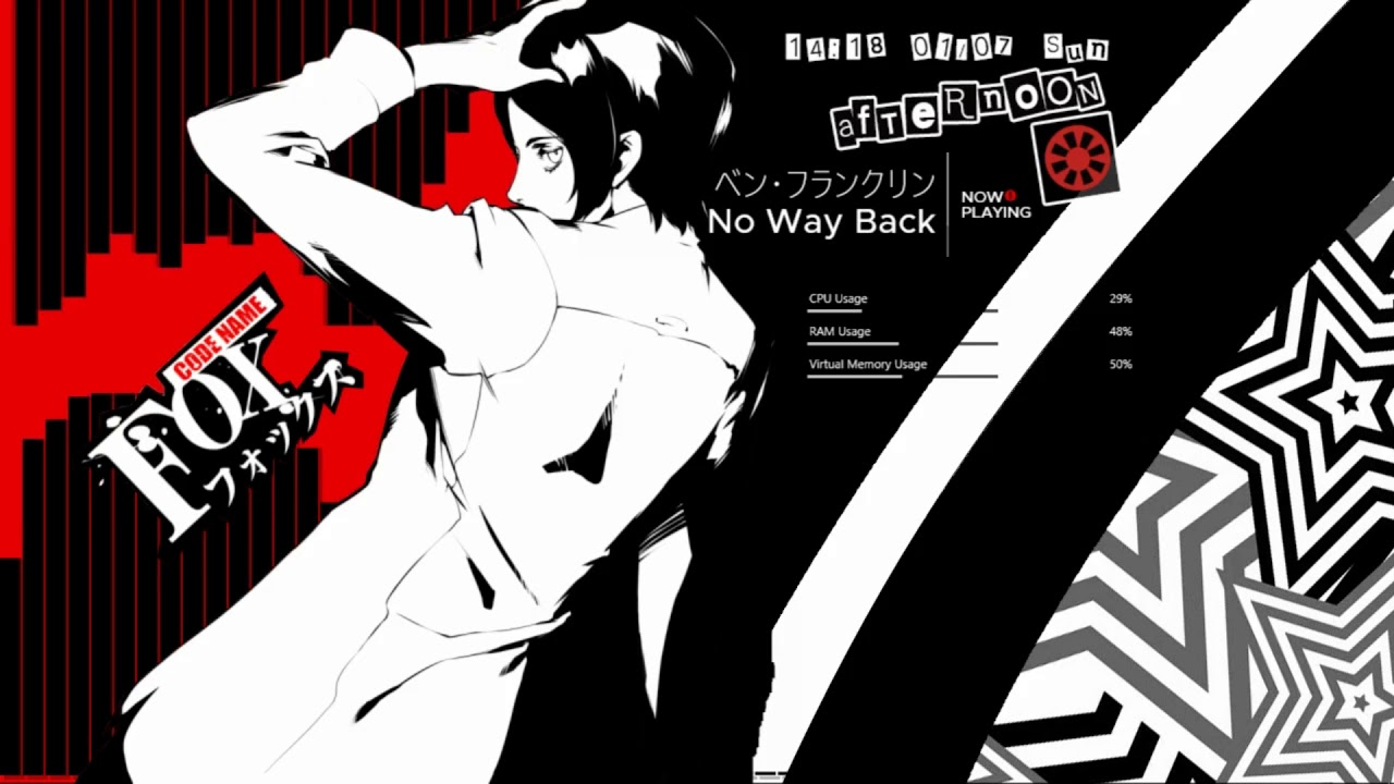Persona 5 ペルソナ5 Rainmeter Full Download Pack Txt