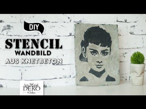 DIY: mit Knetbeton coole Stencil-Bilder selber machen [How to] Deko Kitchen