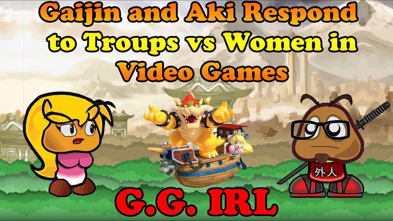 Gaijin And Aki Respond To Tropes Vs Women Gg Irl - Youtube-8470