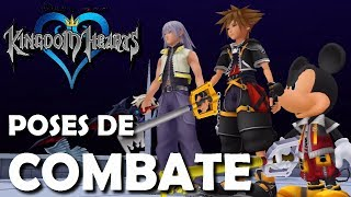 Kingdom Hearts - Poses de Combate de los portadores de Llave Espada (Análisis español)