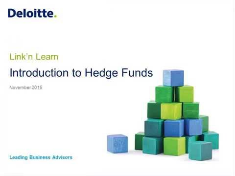 Link'n Learn - Introduction to Hedge Funds