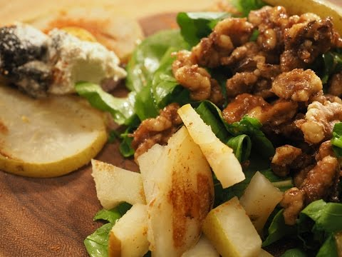 Grilled Pear Roasted Walnut Arugula Salad | Vaidya Priyanka | Salad Series