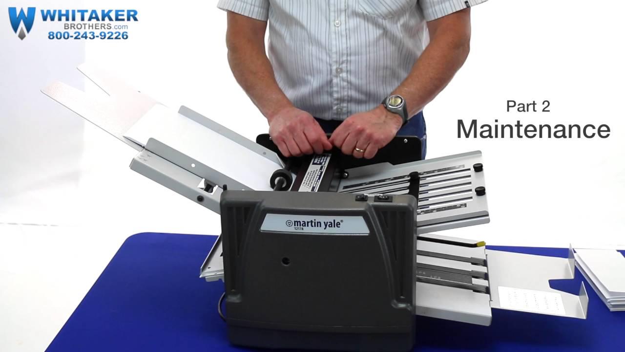 martin yale auto folder manual 1217a