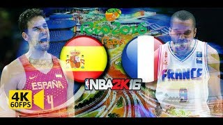 NBA 2K16 : Spain vs. France at Rio 2016 Summer Olympics - 4K 60fps PC Gameplay