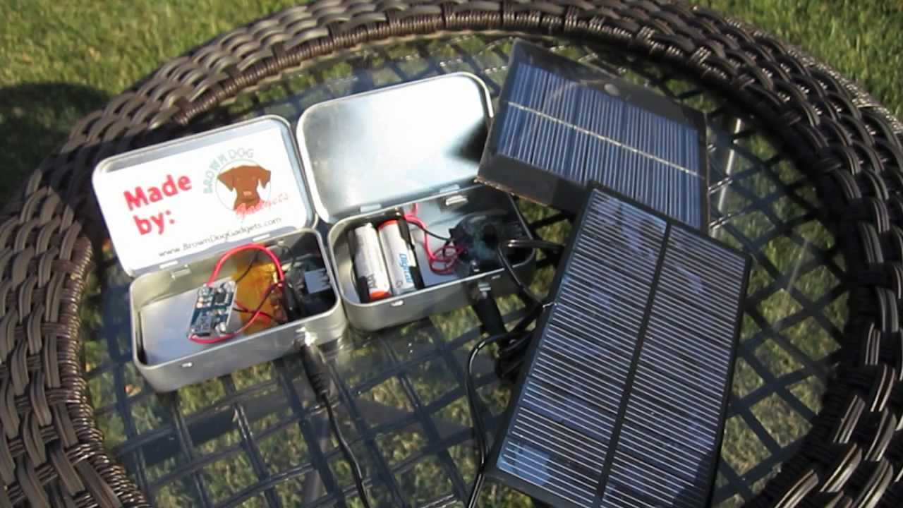 Diy Lithium Solar Usb Charger Youtube Battery Circuitlithium Ion