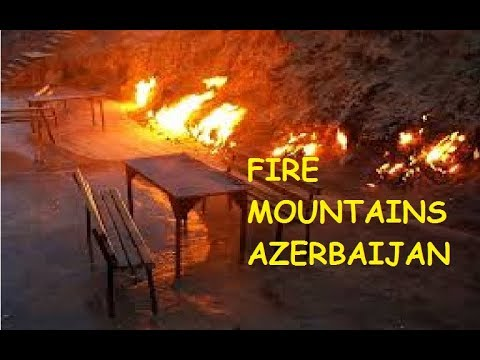 Fire Mountains of Baku Azerbaijan