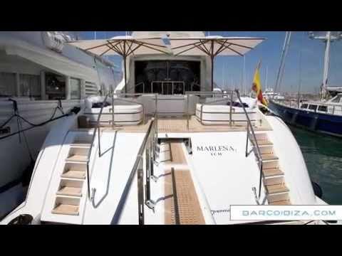 Mangusta 105 for charter in Ibiza / Yacht charter balearic islands