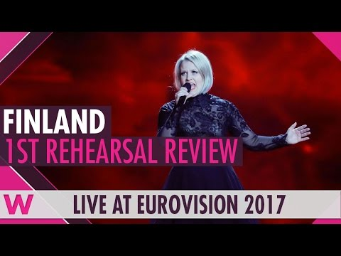 "Finland First Rehearsal: Norma John ""Blackbird"" @ Eurovision 2017 (Review)"