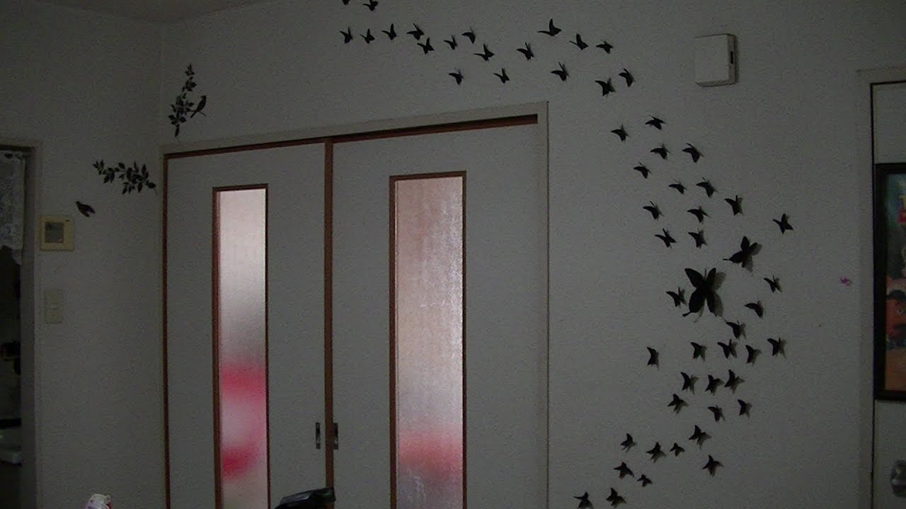 Diy decora tu cuarto con mariposas juancarlos960 youtube - Como decorar pared con fotos ...
