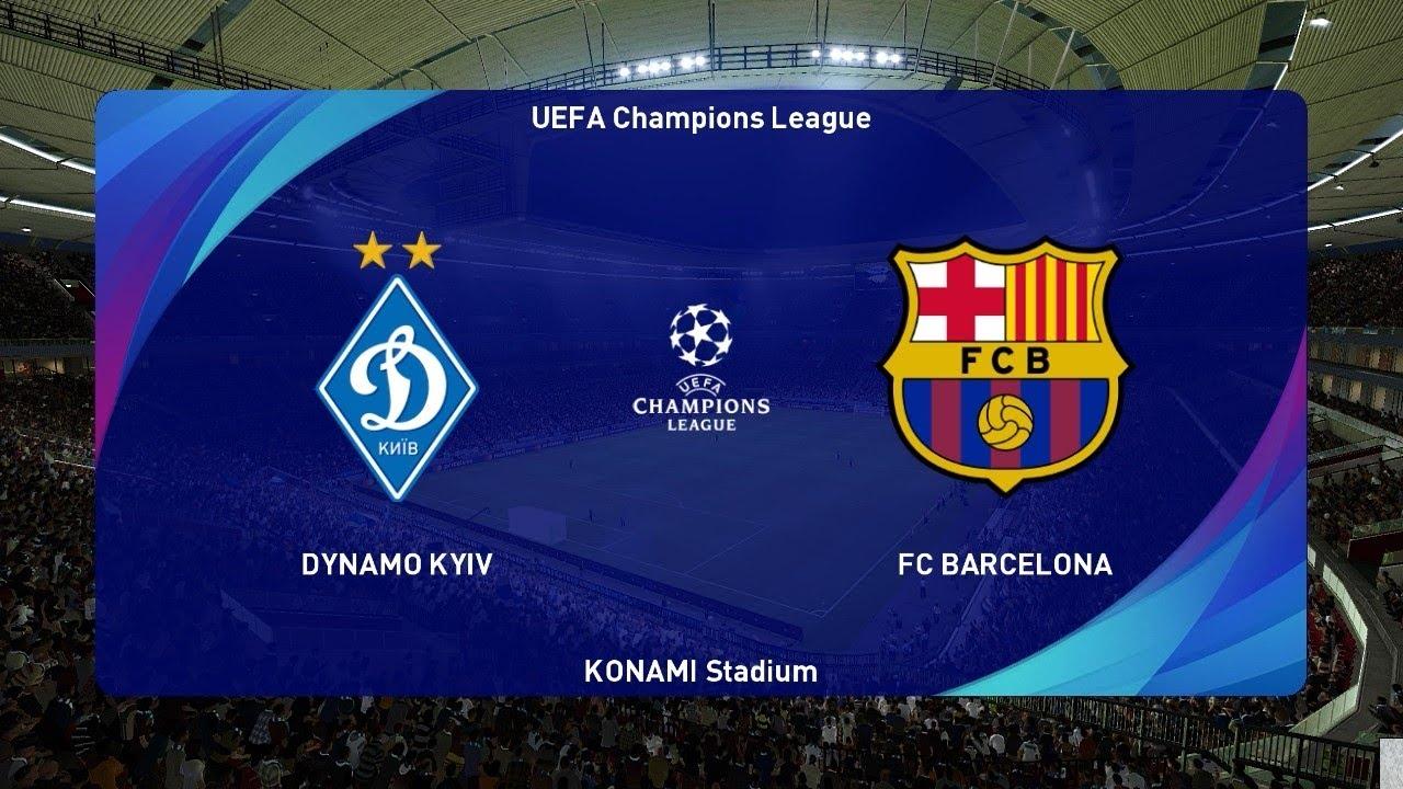 Dynamo Kyiv Vs Barcelona Uefa Champions League 2020 Pes 2021 Gameplay Youtube