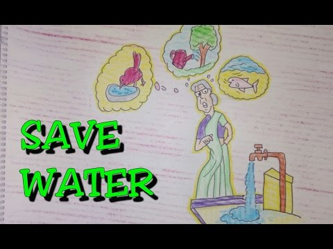 Drawing tutorial drawing on save water poster easy drawing creative ideas video download mp4 3gp flv yiflix com