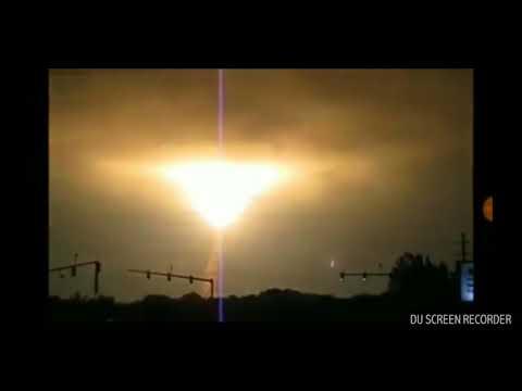 Breaking News  Facebook posted  Australia sky with strange lights Mandela Effect HD