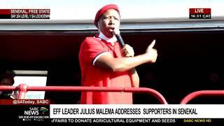 Julius Malema addresses EFF supporters in Senekal