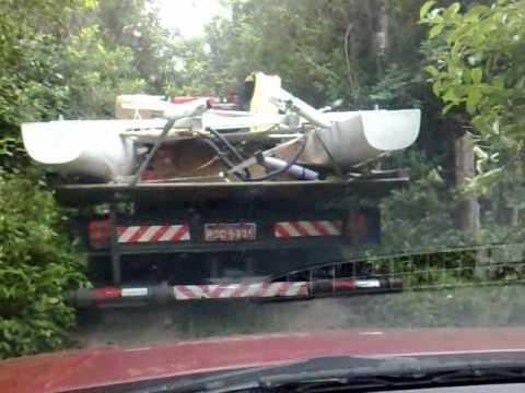 Transporte Barco Solar UFSC - Vento Sul