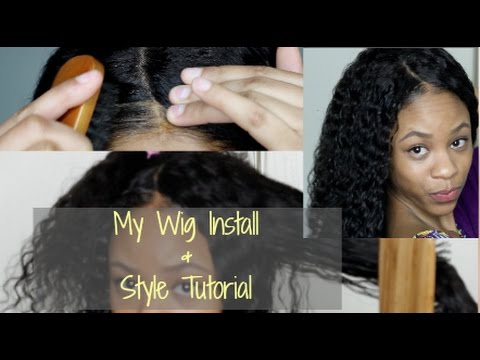 How To Lace Front Wig Install Using Got2b Glued Styling Youtube