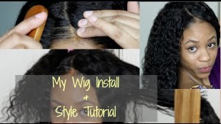 HOW TO| Lace Front Wig Install using Got2b Glued & Styling