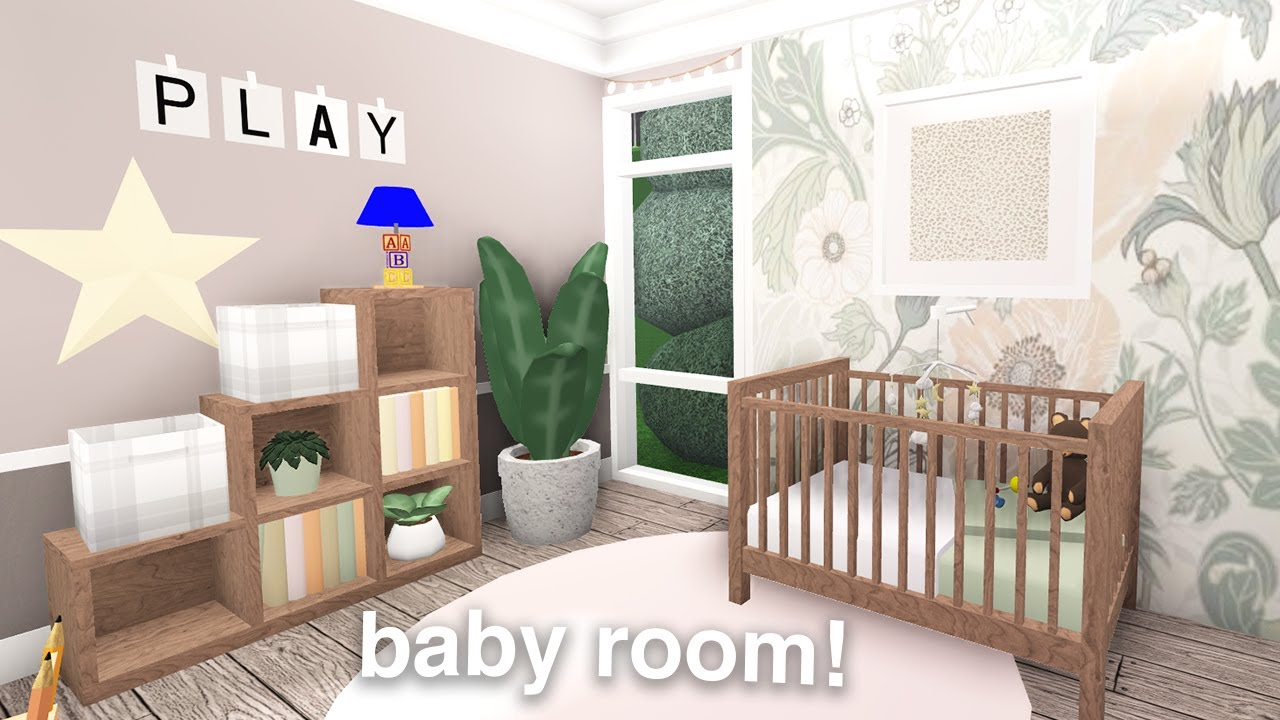 Baby Room Build For Your Houses! | Roblox Bloxburg Build - YouTube