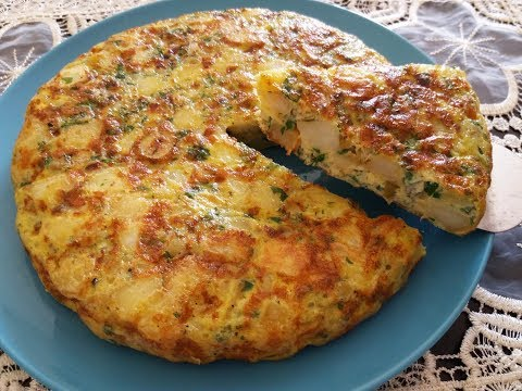فكرة عشاء بسيطة وسريعة/ طورطية البطاطس السريعة بدون فرن رووعة