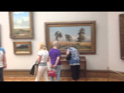 Shishkin paintings in the Tretyakov Gallery, Moscow