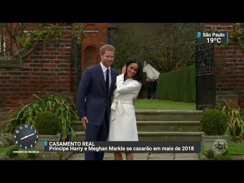 Família real britânica anuncia o mês do casamento do príncipe Harry | SBT Brasil (28/11/17)