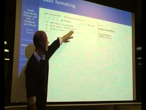 Video: knitr, R Markdown, and R Studio: Introduction to