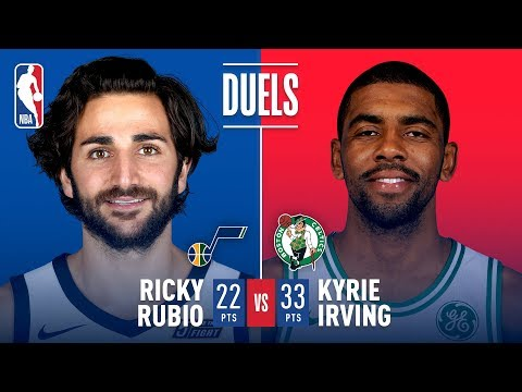 Kyrie Irving (33 Pts) and Ricky Rubio (22 Pts) Duel in Boston   December 15, 2017