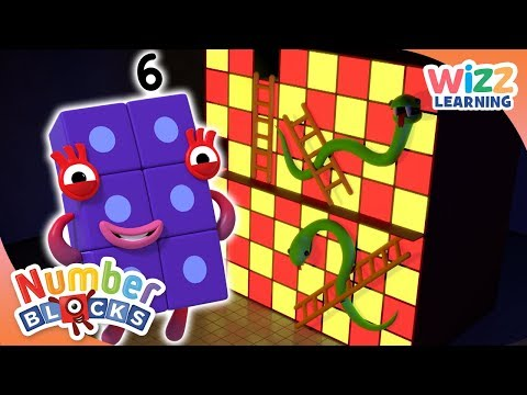 Numberblocks - Snakes And Ladders | Learn To Count | Wizz Learning