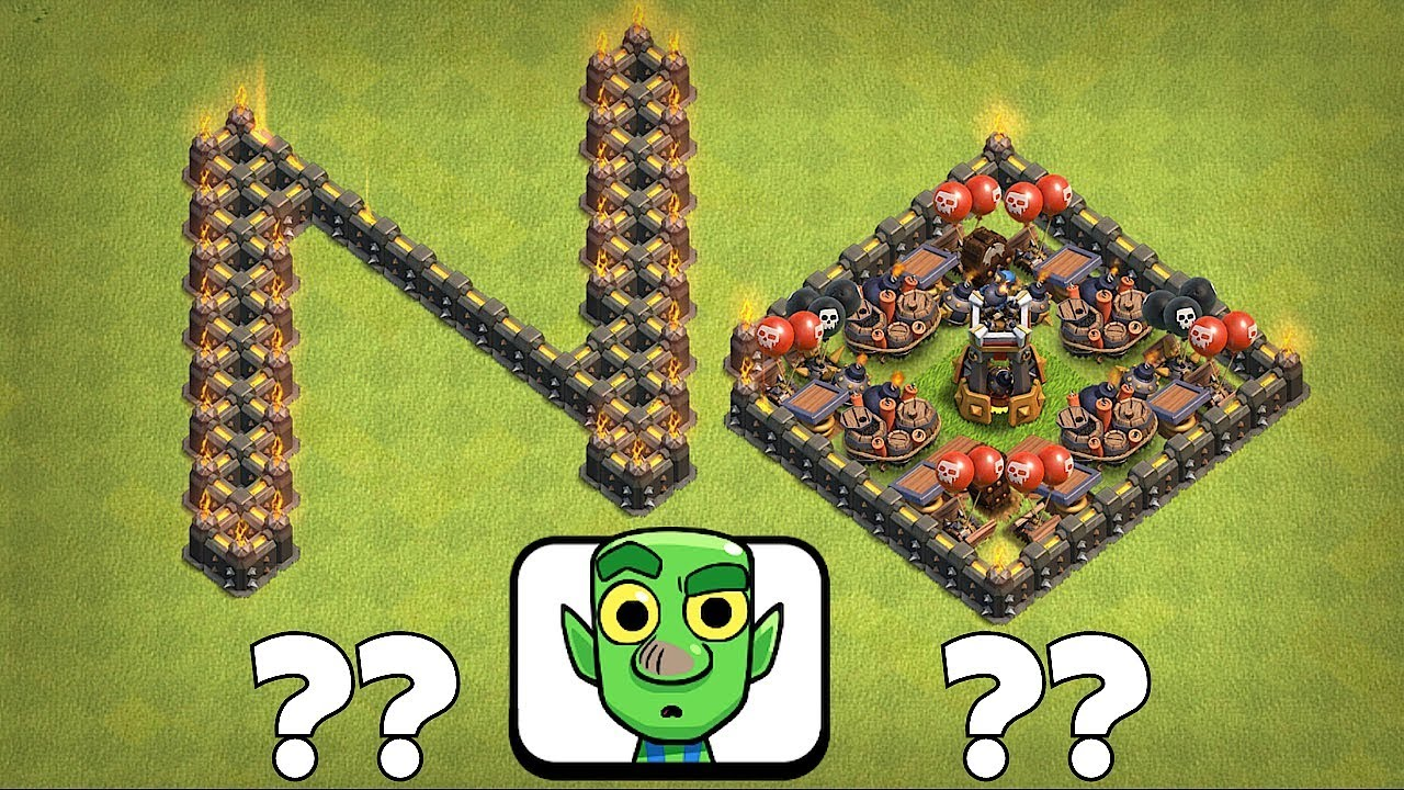 "DON'T DO IT!!!, IT'S A TRAP""Clash Of Clans"" TROLL BROS!!"