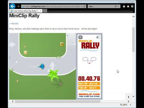 Free Online Miniclip Rally Flash Game