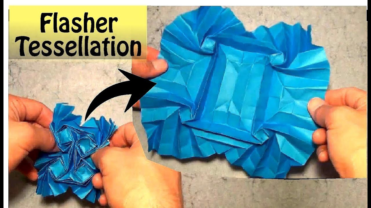 Origami Crazy Flasher Tessellation [Ver. B] (GreenArt4) - DEMO ... | 720x1280