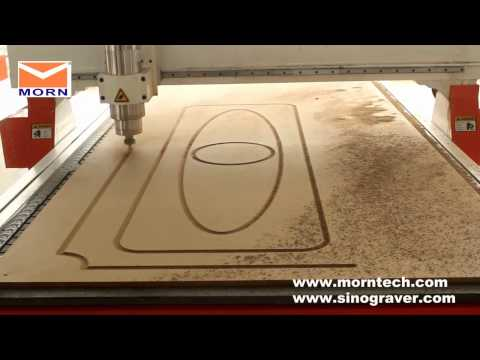 3D Wood Carving Cnc Machine Cutting The Wood Door