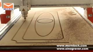 3d Wood Carving Cnc Machine Mt C25b  Cutting The Wood Door
