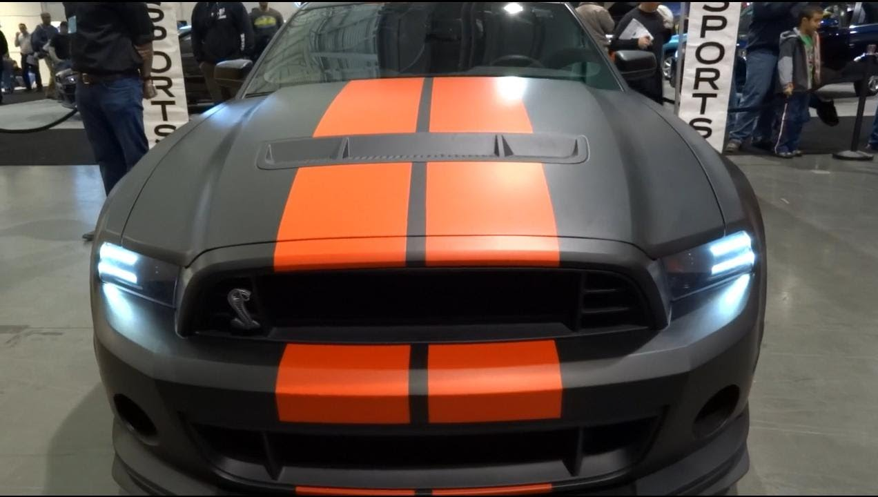 Matte black 2013 ford mustang shelby gt500