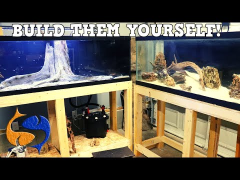DIY Fish Tank Racks For Large Aquariums! Easiest And Strongest Aquarium Stands!