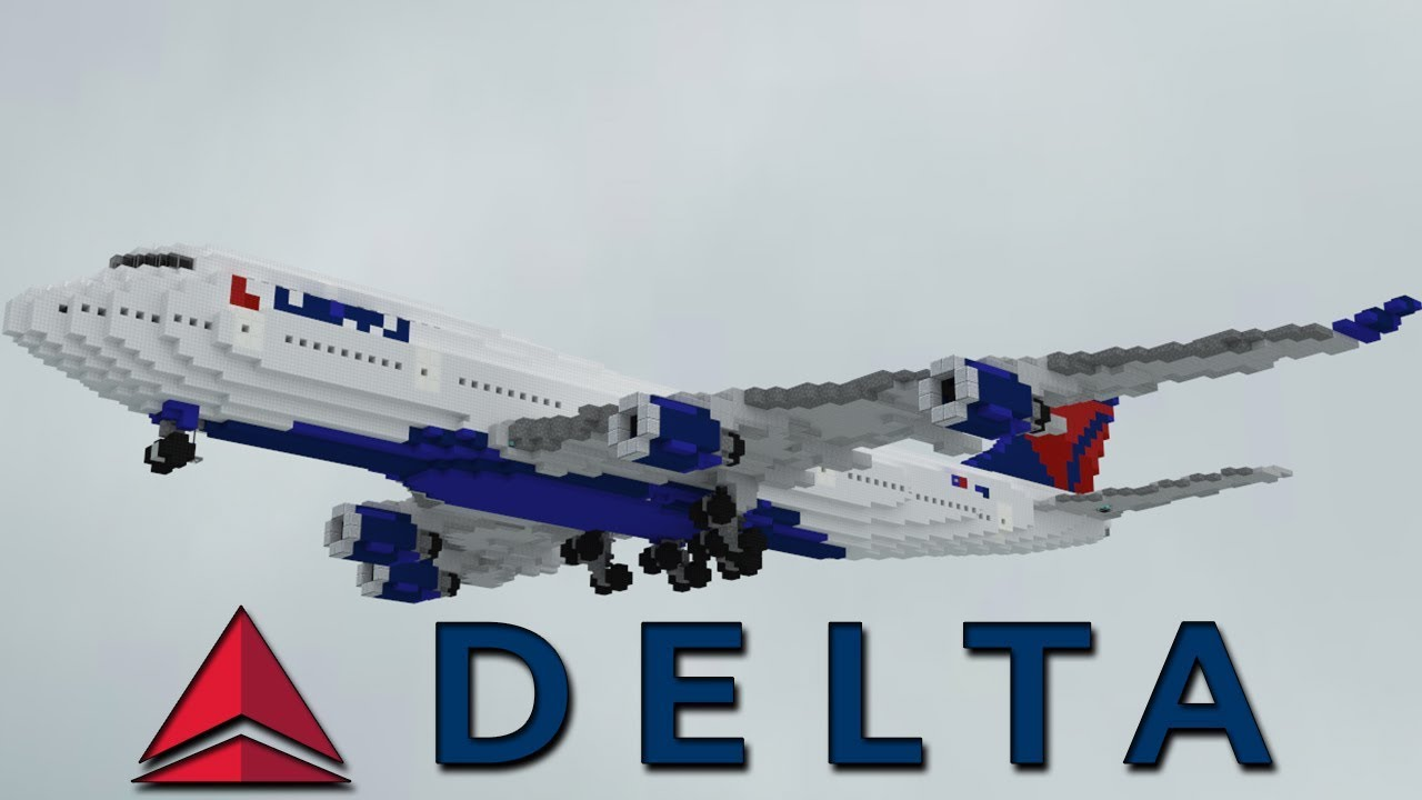 Delta Boeing 747 400 Painting Timelapse Minecraft Youtube