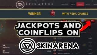 cs go gambling on skinarena com   jackpot coinflip