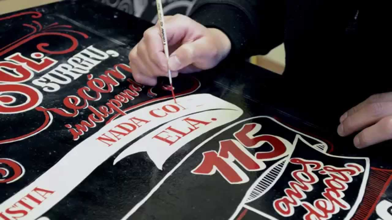 Sol Beer Sign Painting And Chalk Lettering Youtube